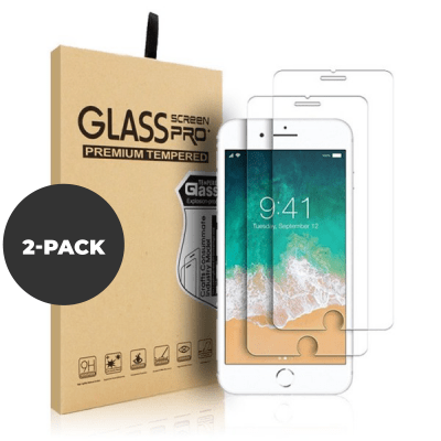2 pk – Herdet glass til iPhone 6/7/8