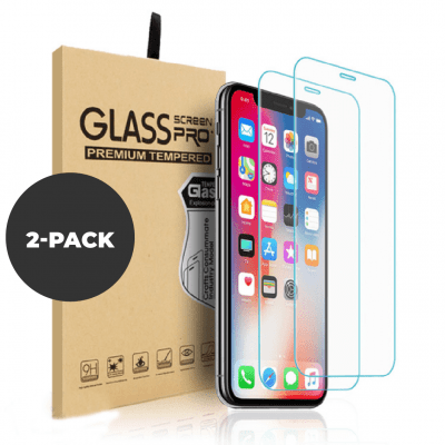 2 pk – Herdet glass til iPhone X/XS/11 Pro